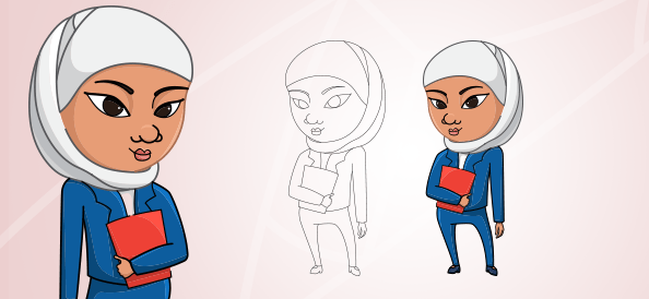 Arab Woman Vector Character