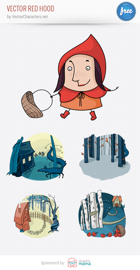 Vector Red Riding Hood