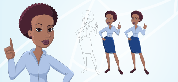 Afro-American Business Woman