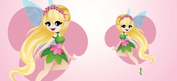 Flying Fairy Illustration