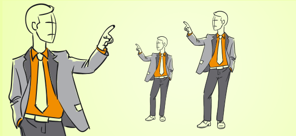 Hand-drawn Business Guy Vector