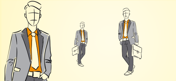 Hand-Drawn Businessman Vector