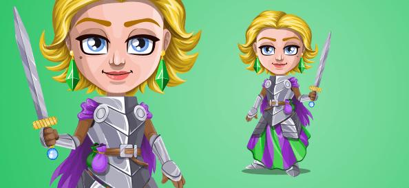 Vector Knight Woman