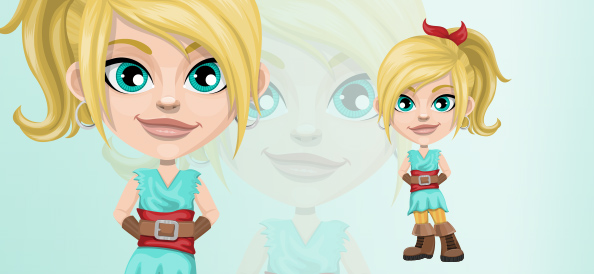 Innocent Blonde Pirate Girl