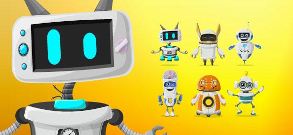 Vector Robot Character Set