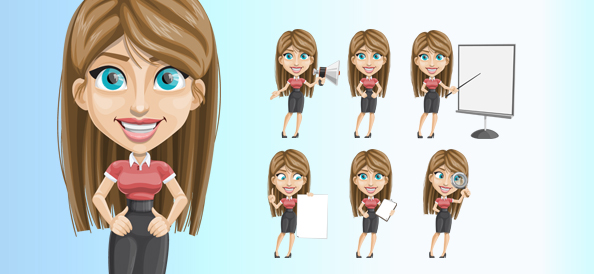 Friendly Vector Female Character