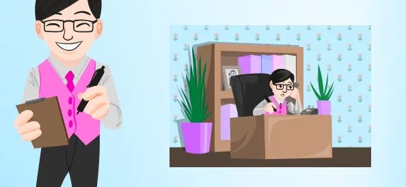 Office Worker Vector Character
