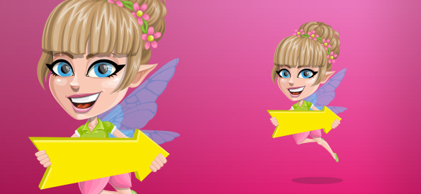 Beautiful Fairy Cartoon Vector Character