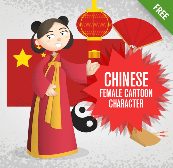 Chinese Female Cartoon Character