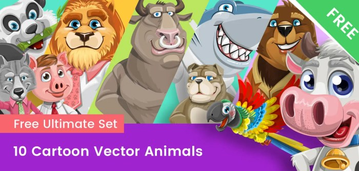 Cartoon Animals – Free Vector Collection