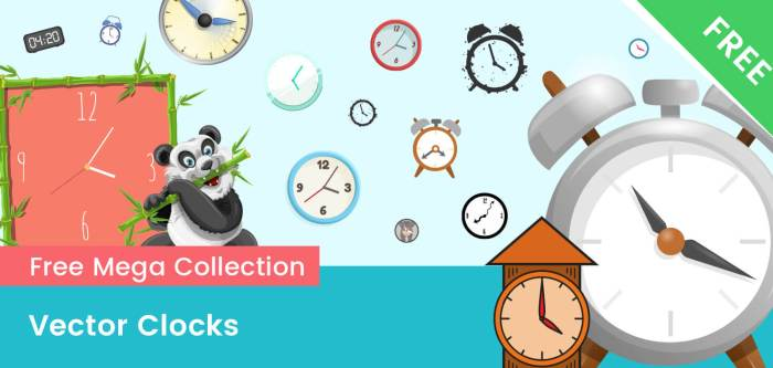 Clock Vectors – FREE Ultimate Collection
