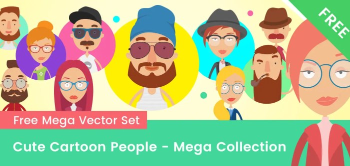 Cute Cartoon People – Mega Collection