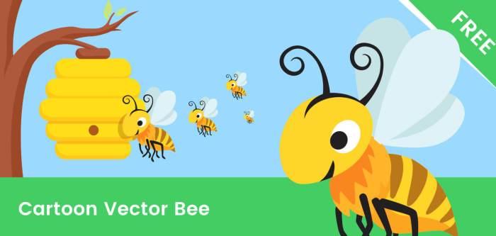 Bee Cartoon Vector Character