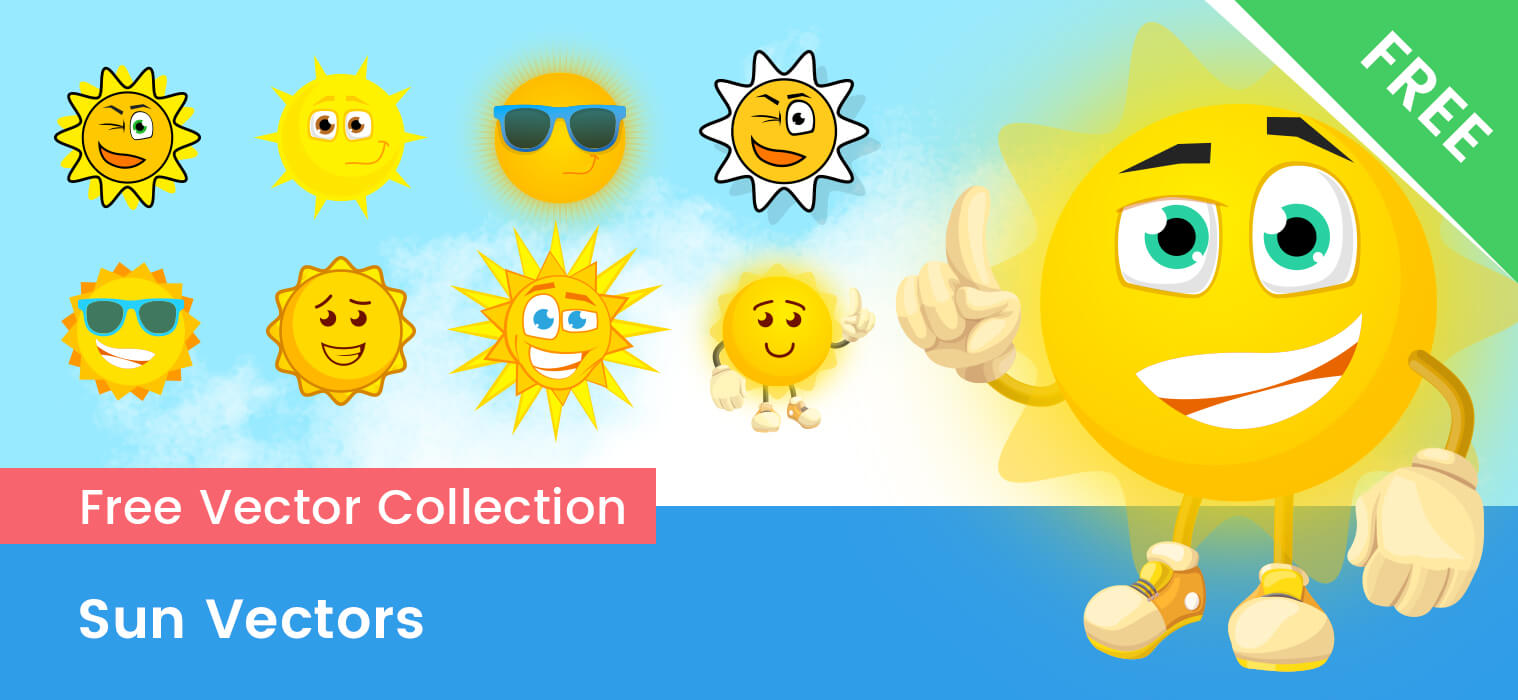 Free Vector Sun Characters – Ultimate Collection