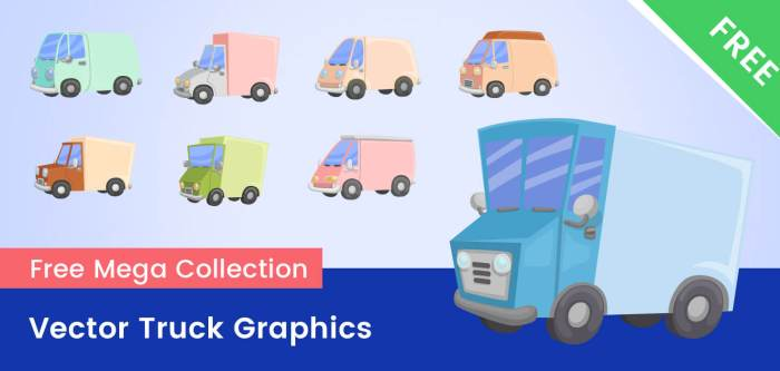 FREE Vector Truck Graphics – Ultimate collection