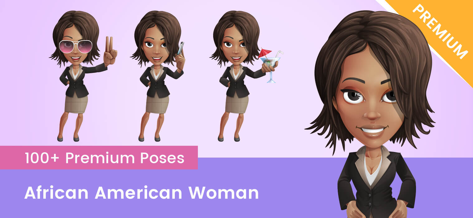 African American Woman Vector