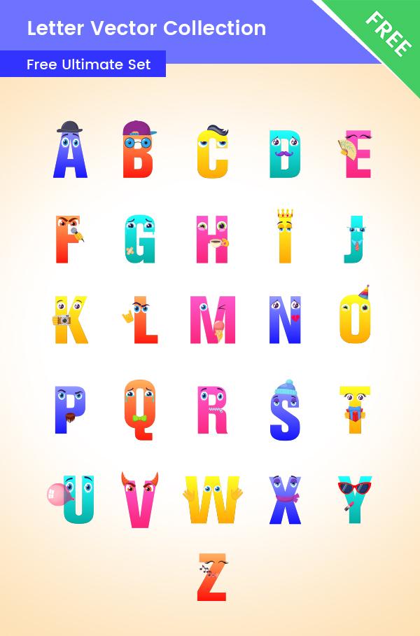 Alphabet Clipart Set Free Colletion