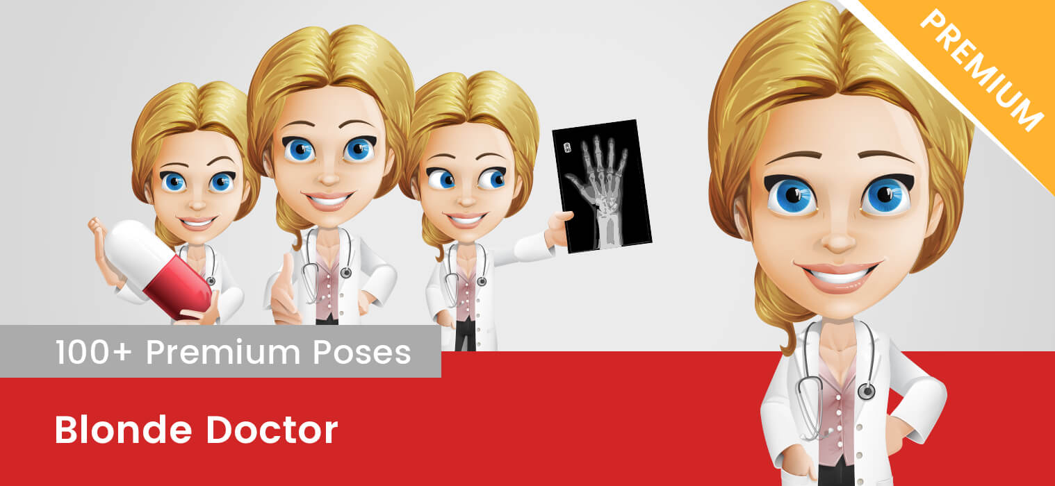 Blonde Doctor Vector Character