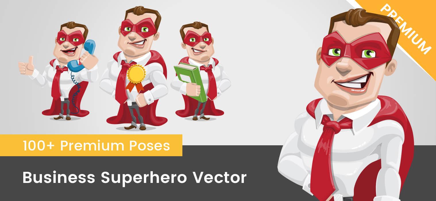 Business Superhero Vector Cartoon