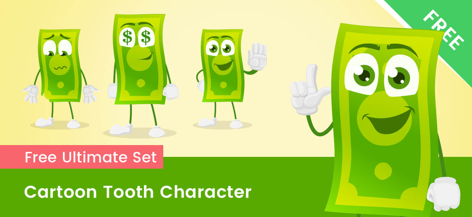 Cartoon Money Vector Set