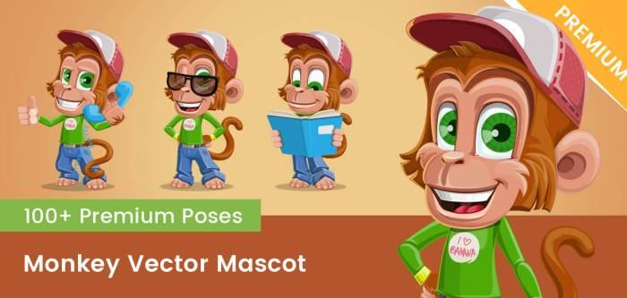 Monkey Vector Mascot