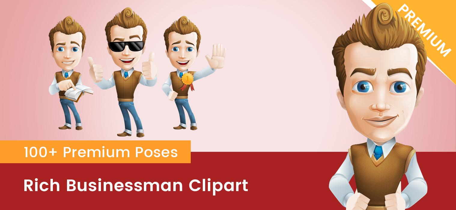 Rich Businessman Clipart