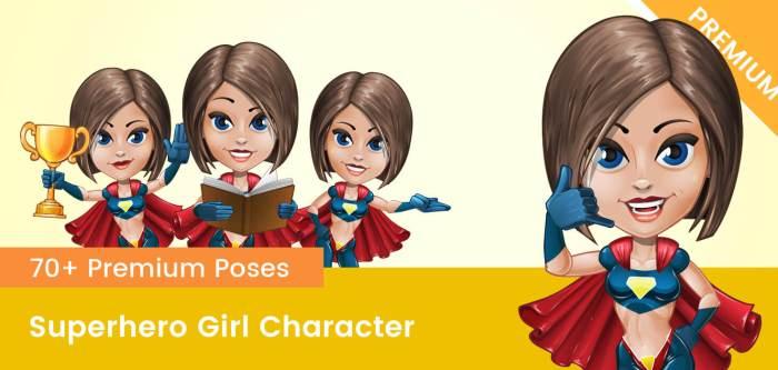 Superhero Girl Vector Character