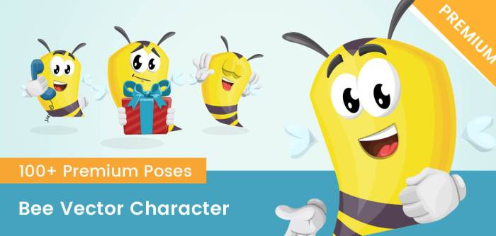 Bee Vector Character