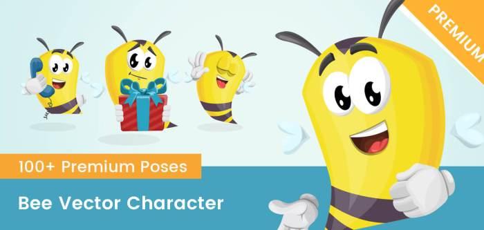 Bee Vector Character