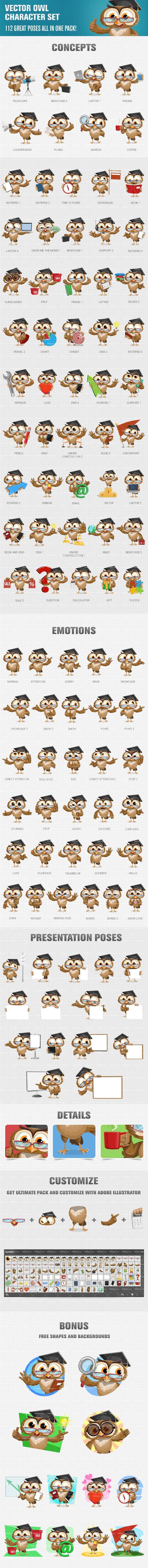 Owl Vector Character