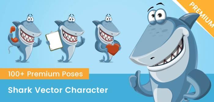 Shark Vector Character