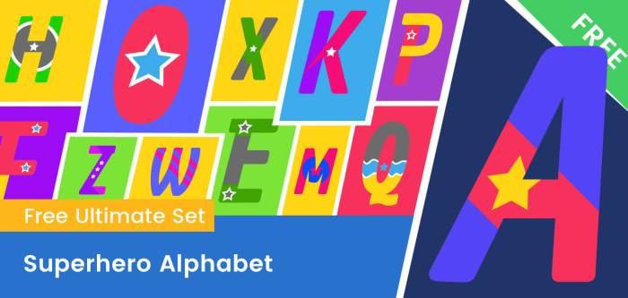 Superhero Clipart Alphabet