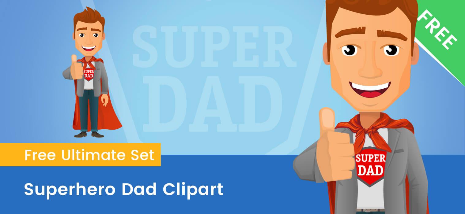 Superhero Dad Clipart