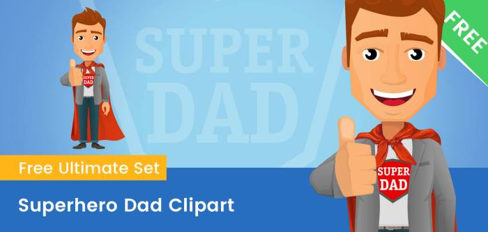 Superhero Dad Clipart