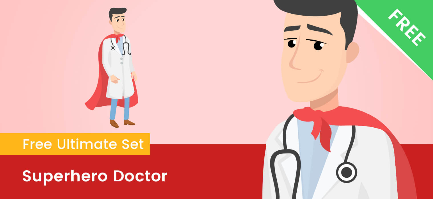 Superhero Doctor Clipart
