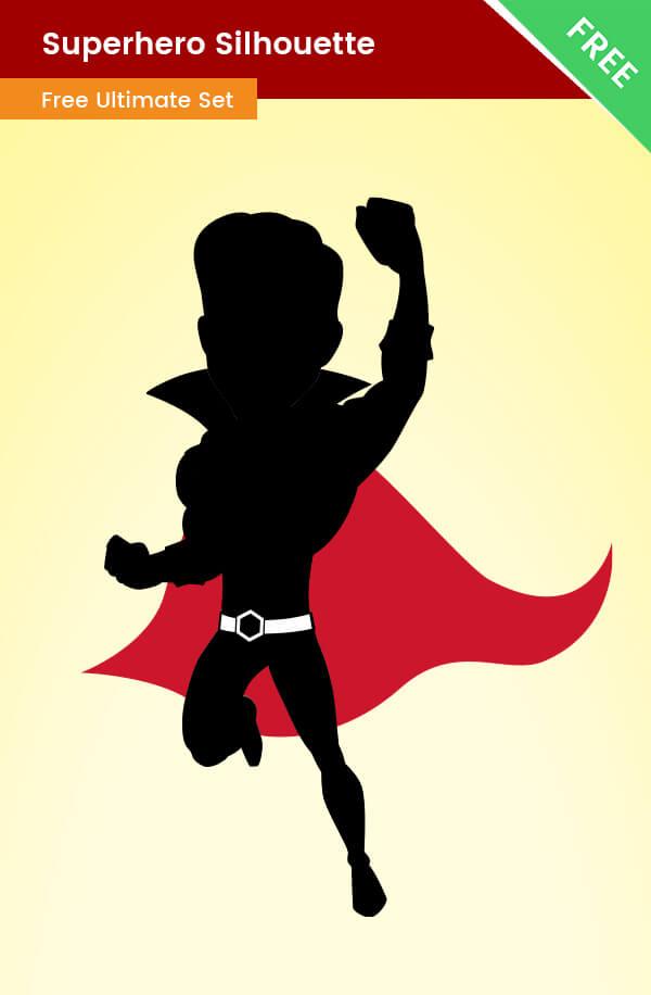 Superhero Vector Silhouette  Free