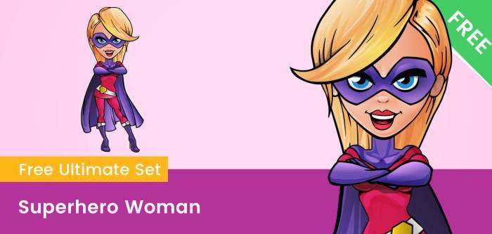 Superhero Woman Clipart