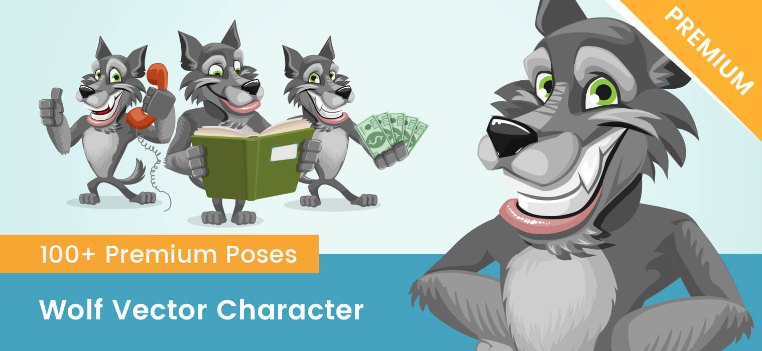 Wolf Vector Character
