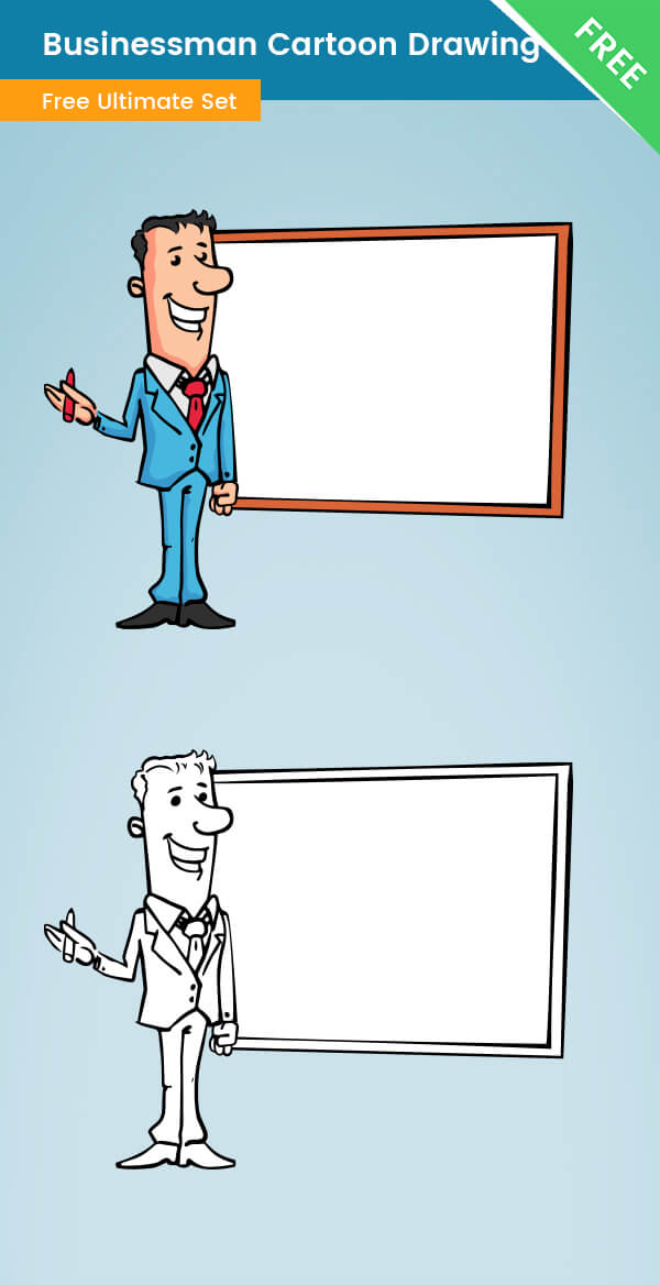 Businessman Cartoon Drawing