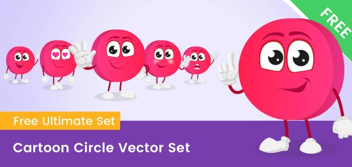 Cartoon Circle Vector Set