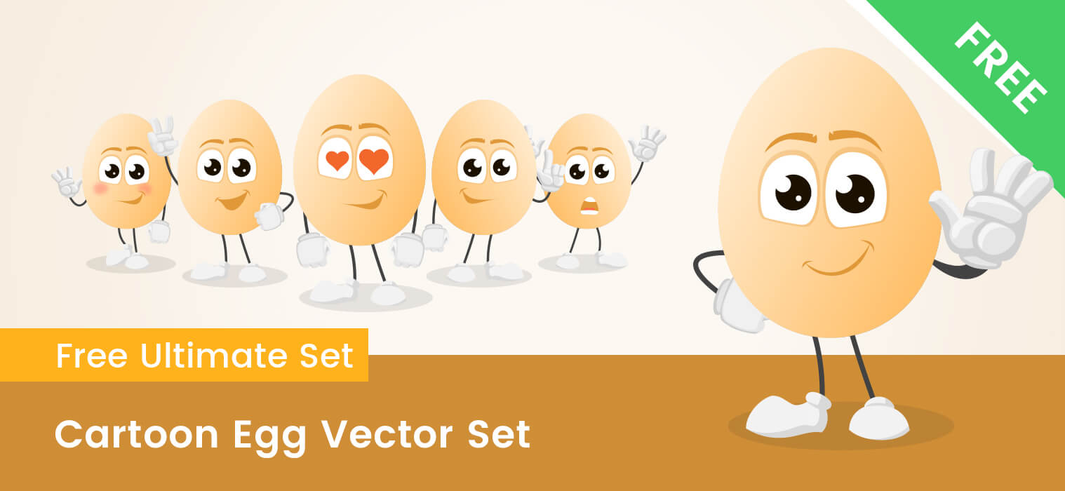 Cartoon Egg Vector Set