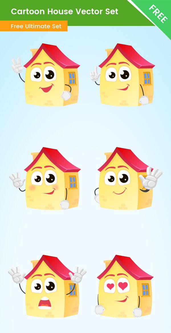 Cartoon House Vector Set