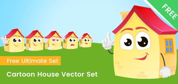 Cartoon House Vector Set