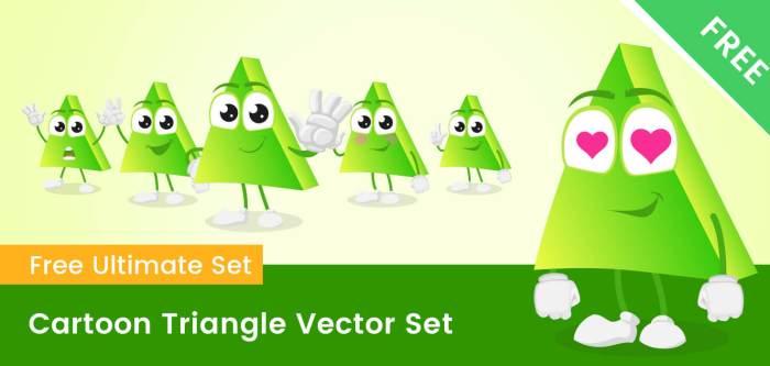 Cartoon Triangle Vector Set