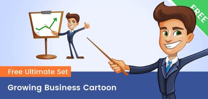 Growing Business Cartoon