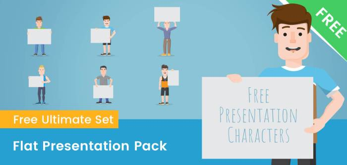 Flat Characters in a Presentation
