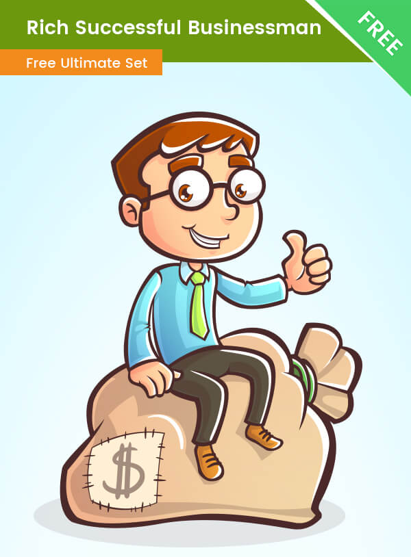 Rich Successful Business Cartoon Character - VectorCharacters