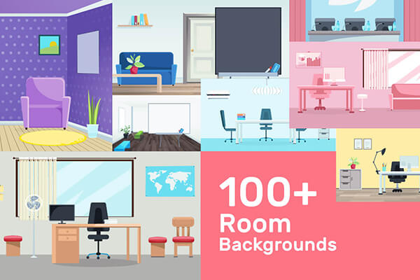 Cartoon Room Backgrounds Mega Collection