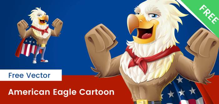 Free American Eagle Vector Character