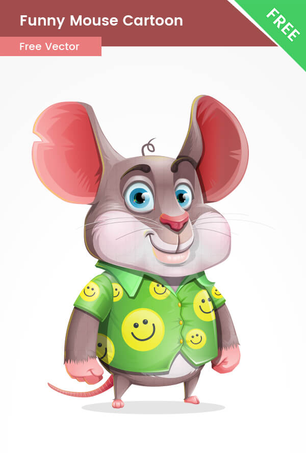 Free Funny Mouse Vector Character